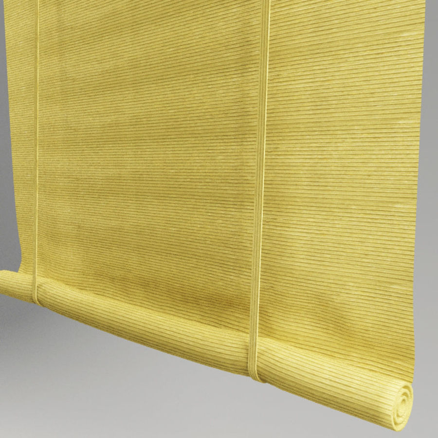 Roll curtain royalty-free 3d model - Preview no. 3