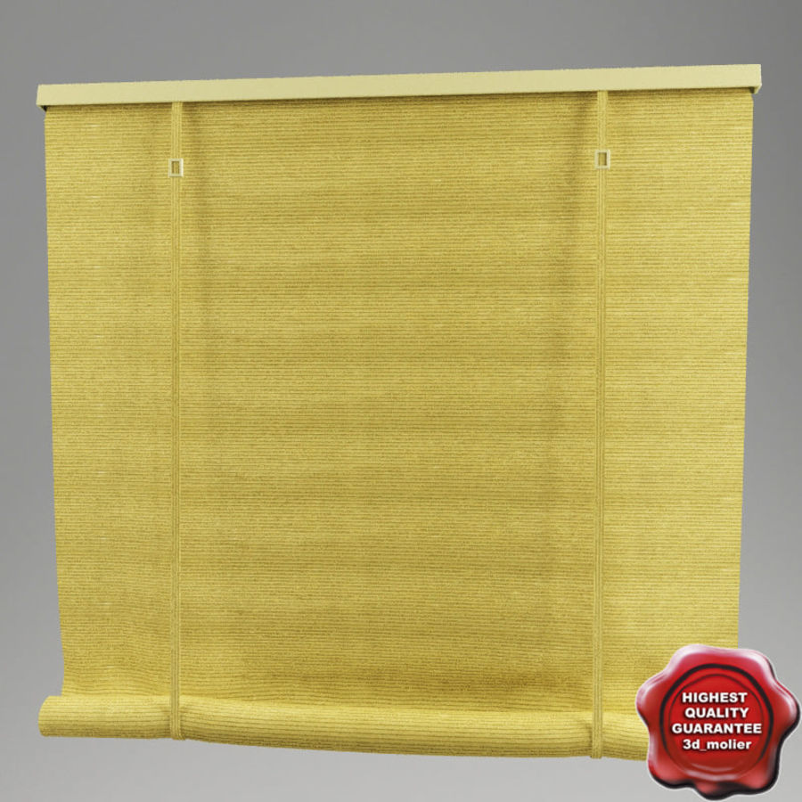 Roll curtain royalty-free 3d model - Preview no. 1