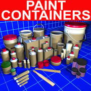 Paint Container Collection 01 3d model