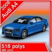 Audi A4 berlina 2008 3d model