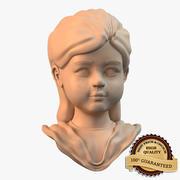 Estatua de niña modelo 3d