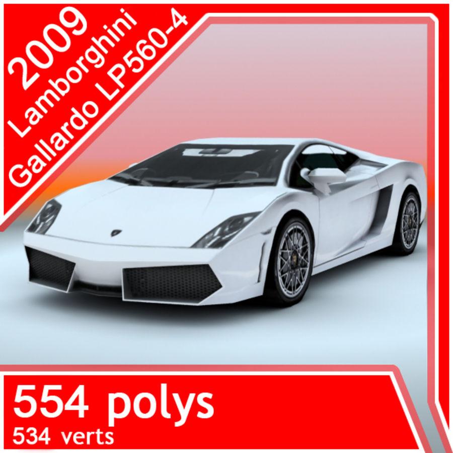 2009 Lamborghini-Gallardo LP560 royalty-free 3d model - Preview no. 1