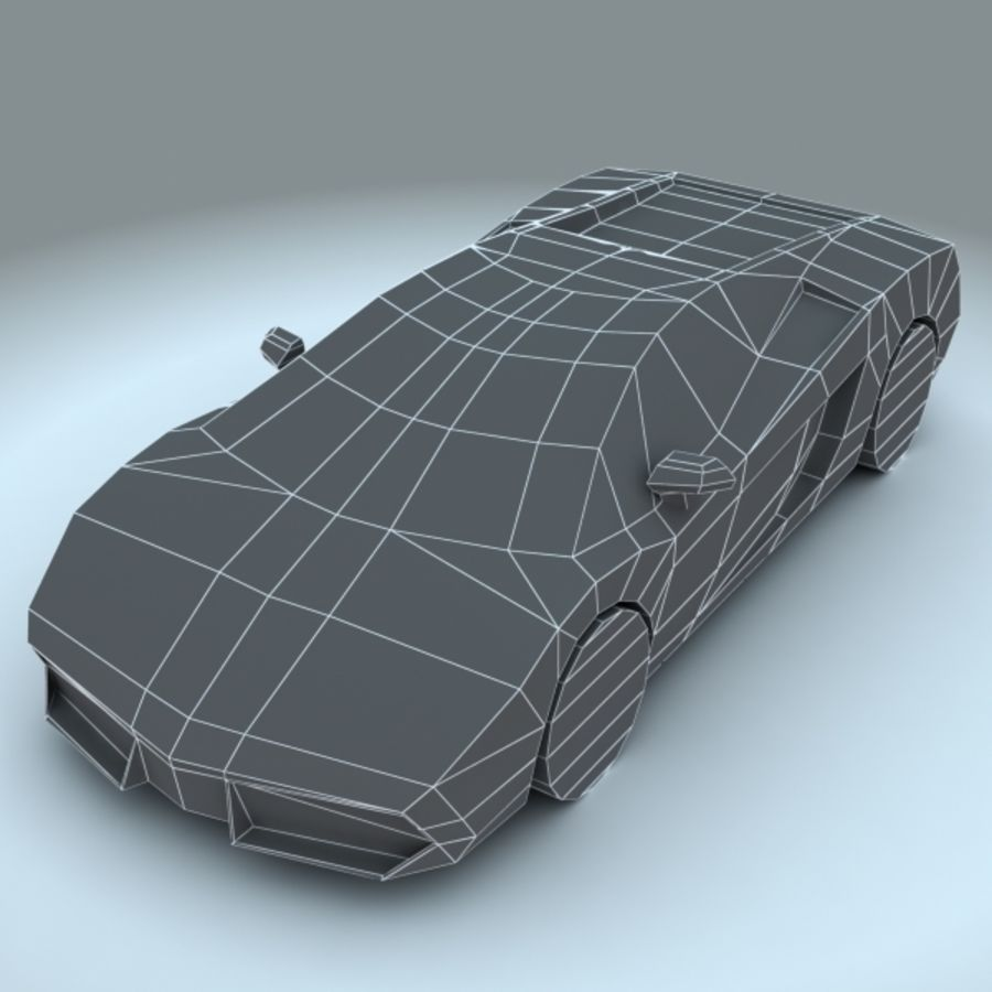 2009 Lamborghini-Gallardo LP560 royalty-free 3d model - Preview no. 6