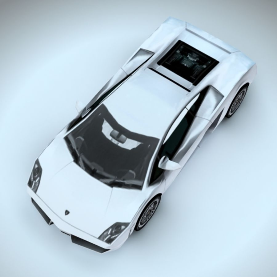 2009 Lamborghini-Gallardo LP560 royalty-free 3d model - Preview no. 5