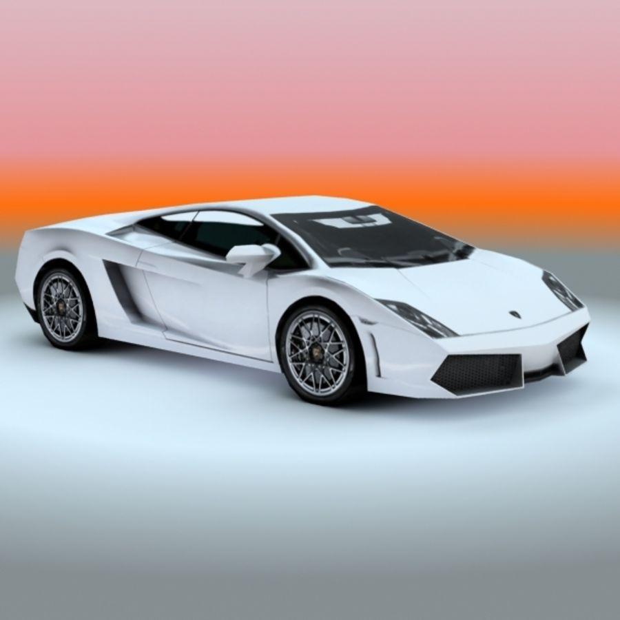 2009 Lamborghini-Gallardo LP560 royalty-free 3d model - Preview no. 4