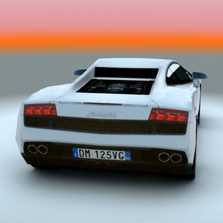 2009 Lamborghini-Gallardo LP560 royalty-free 3d model - Preview no. 2