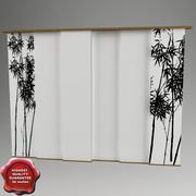 Japan curtain 3d model