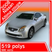 2008年日产altima coupe 3d model