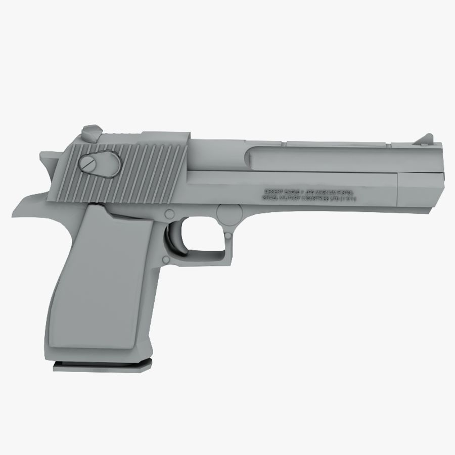 Desert eagle royalty-free 3d model - Preview no. 7