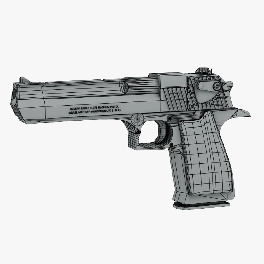 Desert eagle royalty-free 3d model - Preview no. 9
