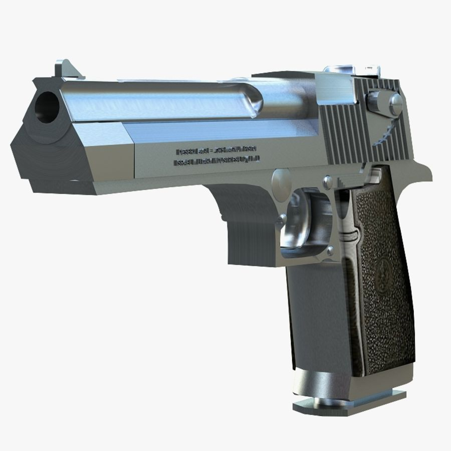Desert eagle royalty-free 3d model - Preview no. 5