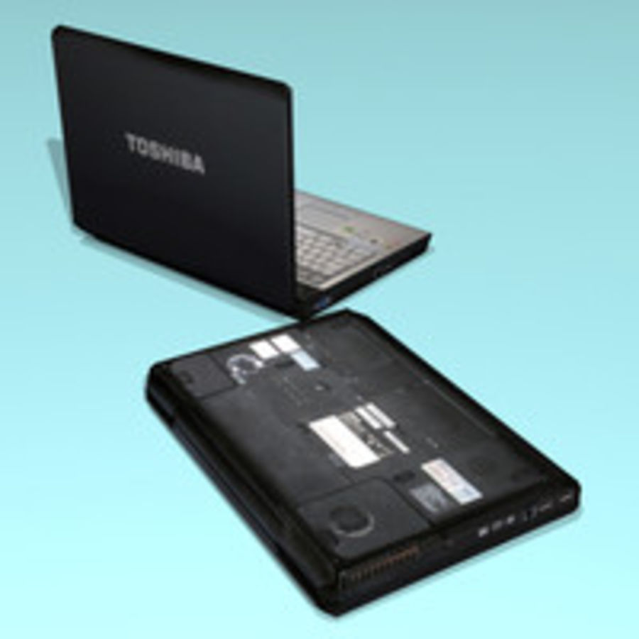 Notebook - Laptop royalty-free 3d model - Preview no. 3