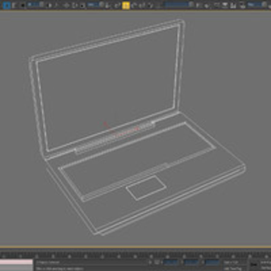 Notebook - Laptop royalty-free 3d model - Preview no. 5