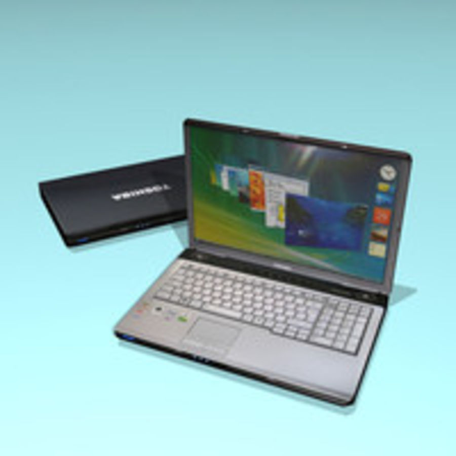 Notebook - Laptop royalty-free 3d model - Preview no. 2