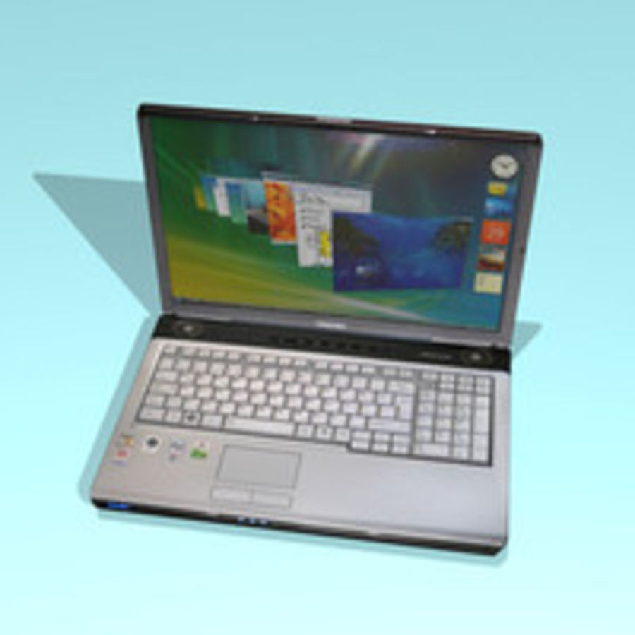 Notebook - Laptop royalty-free 3d model - Preview no. 4