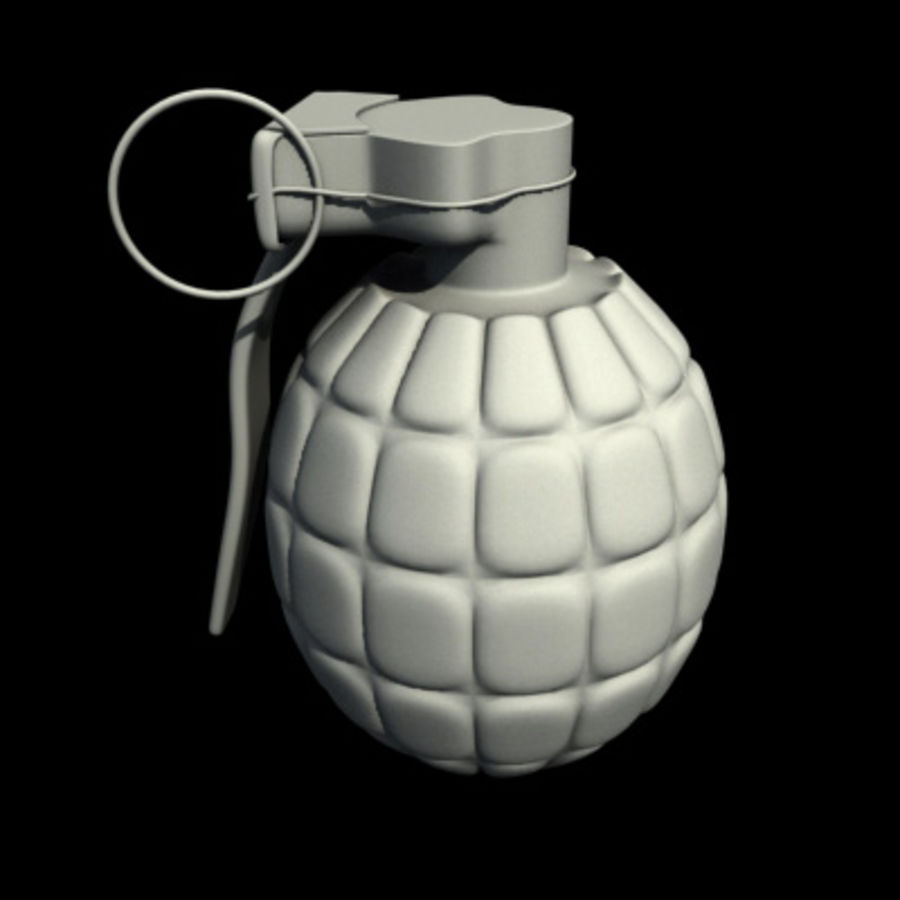 Grenade royalty-free 3d model - Preview no. 3