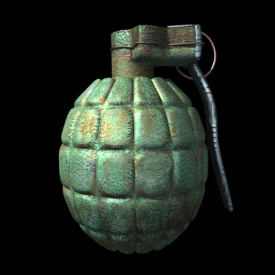 Grenade royalty-free 3d model - Preview no. 2