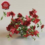 Low-poly Bush&Flowers V3 3d model
