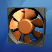 120 mm Computer Cooling Fan 3d model