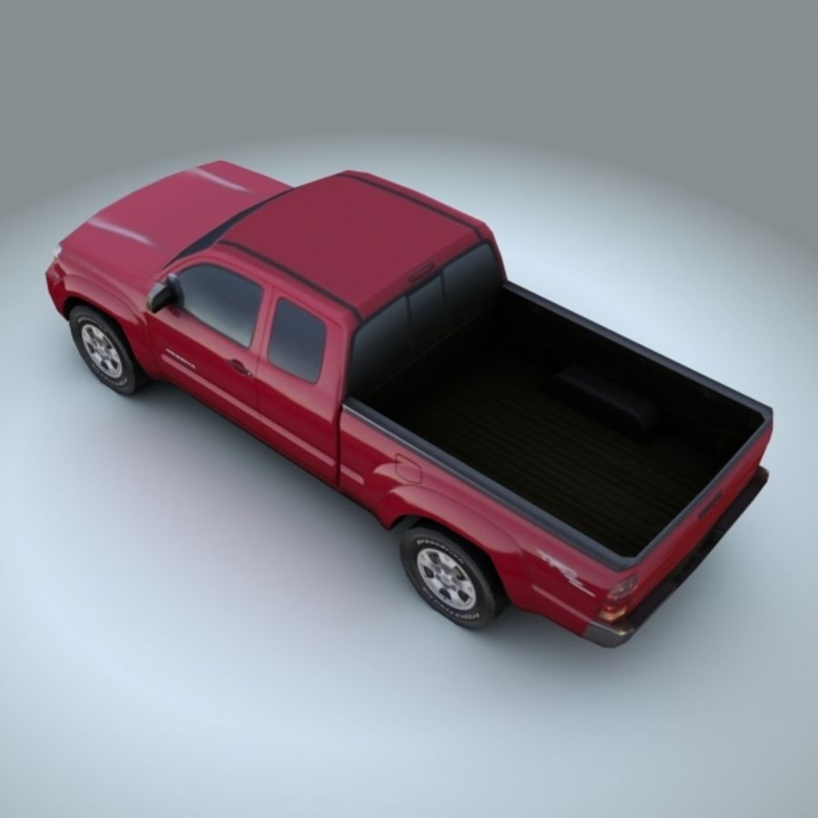 2009 Toyota Tacoma royalty-free 3d model - Preview no. 3