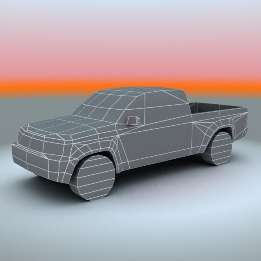 2009 Toyota Tacoma royalty-free 3d model - Preview no. 6