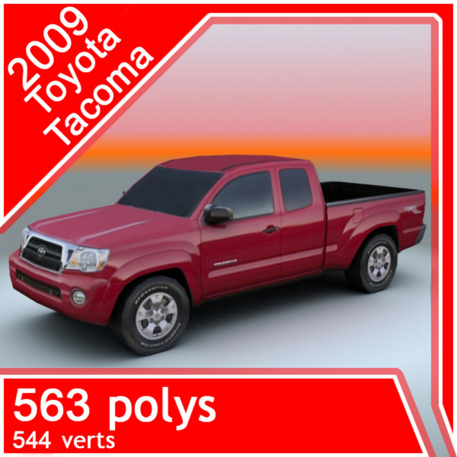 2009 Toyota Tacoma royalty-free 3d model - Preview no. 1