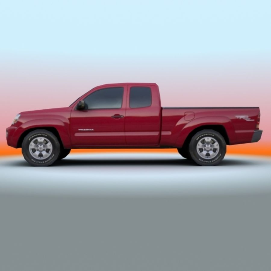 2009 Toyota Tacoma royalty-free 3d model - Preview no. 4