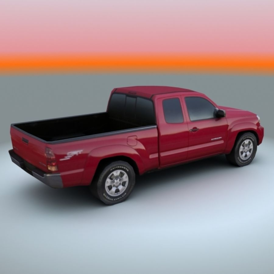 2009 Toyota Tacoma royalty-free 3d model - Preview no. 2