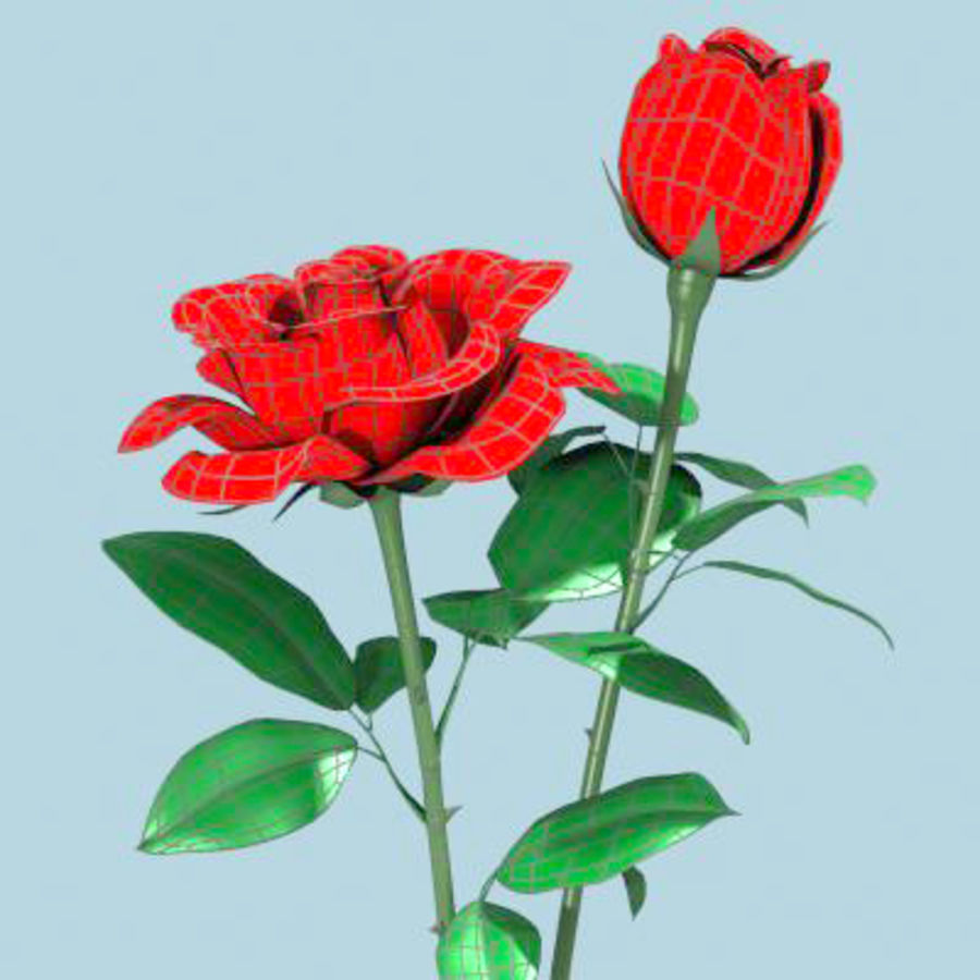 Roses royalty-free 3d model - Preview no. 6