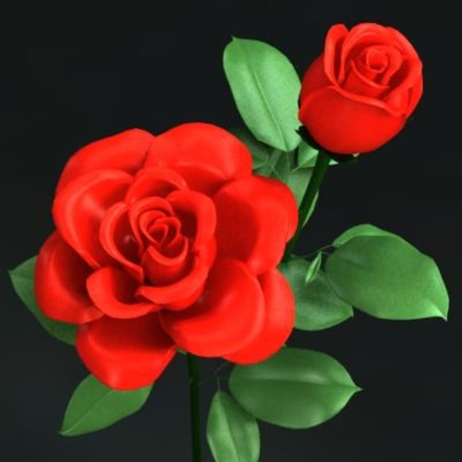 Roses royalty-free 3d model - Preview no. 1