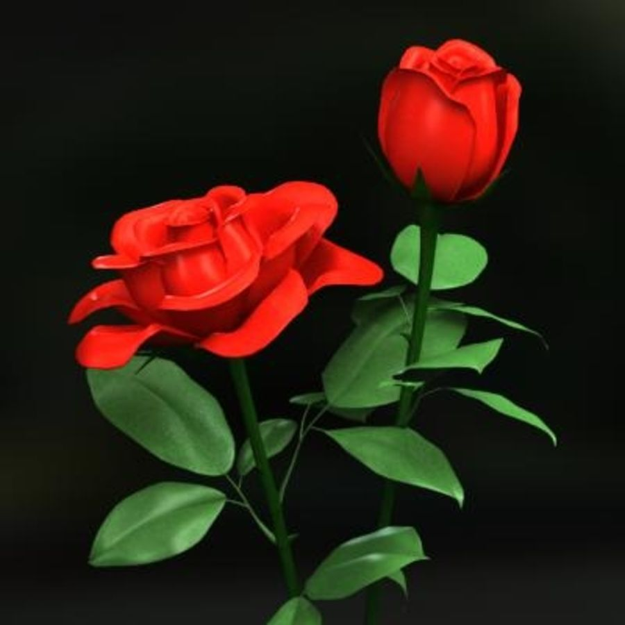 Roses royalty-free 3d model - Preview no. 4