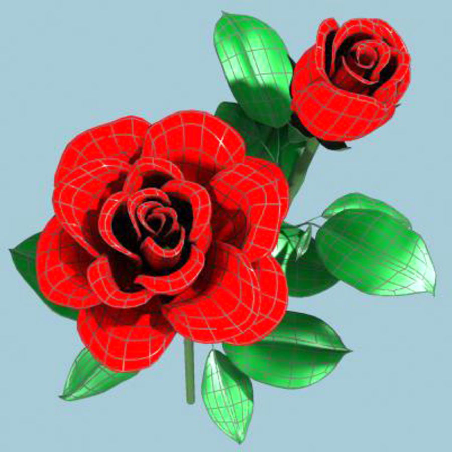 Roses royalty-free 3d model - Preview no. 5