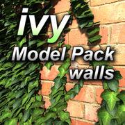 bluszcz model 01 - ściany 3d model