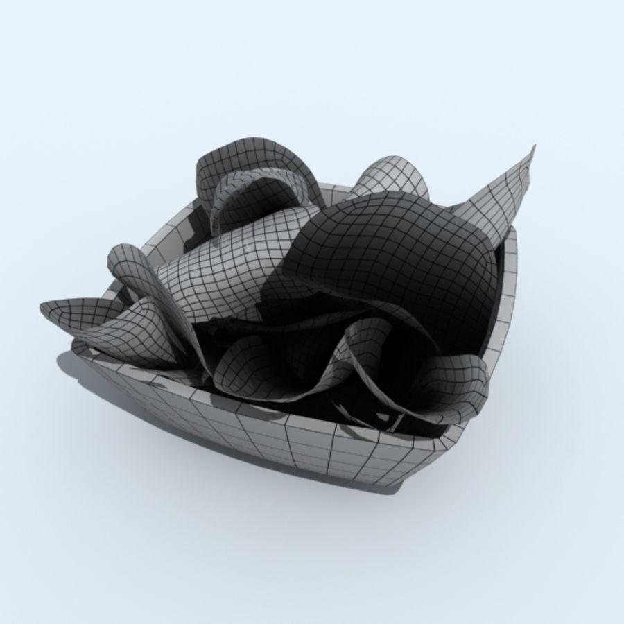 mellanmål skålar royalty-free 3d model - Preview no. 3