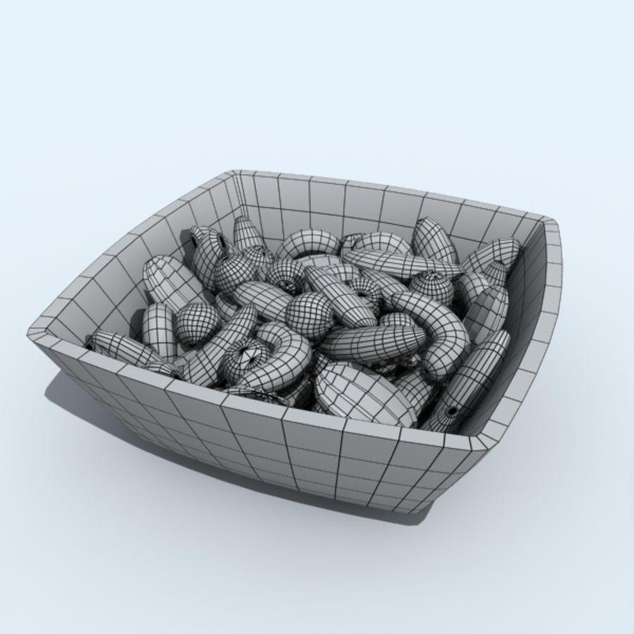 mellanmål skålar royalty-free 3d model - Preview no. 5