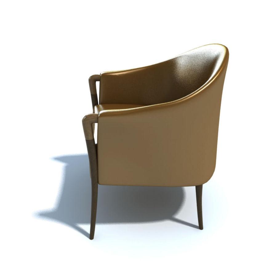 肘掛け椅子_ royalty-free 3d model - Preview no. 3