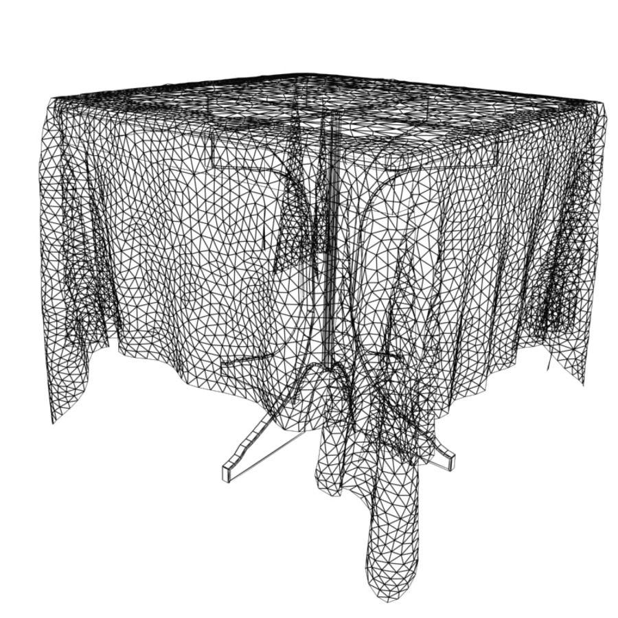 Table&table-cloth V1 3D Model $28 -  xsi  obj  ma  max  lwo  c4d