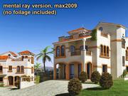 Mediterranean villas 3d model