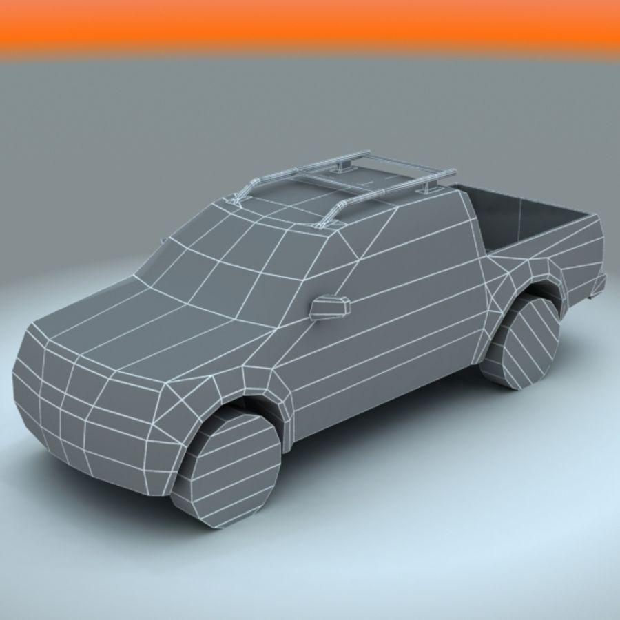 2008 년 닛산 프론티어 royalty-free 3d model - Preview no. 6