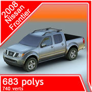 2008 Nissan Frontier 3d model