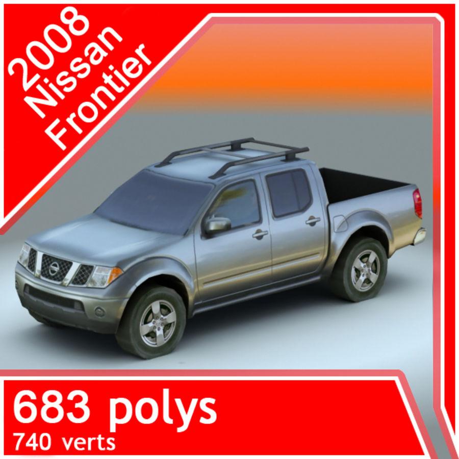 2008 년 닛산 프론티어 royalty-free 3d model - Preview no. 1