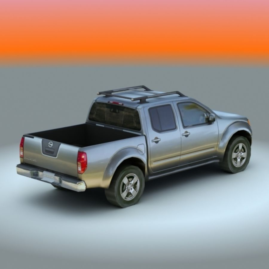2008 년 닛산 프론티어 royalty-free 3d model - Preview no. 2