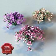Hi-poly Bush&Flowers V2 3d model
