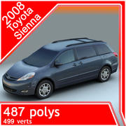 2008 Toyota Sienna 3d model
