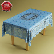 Table&table-cloth 3d model
