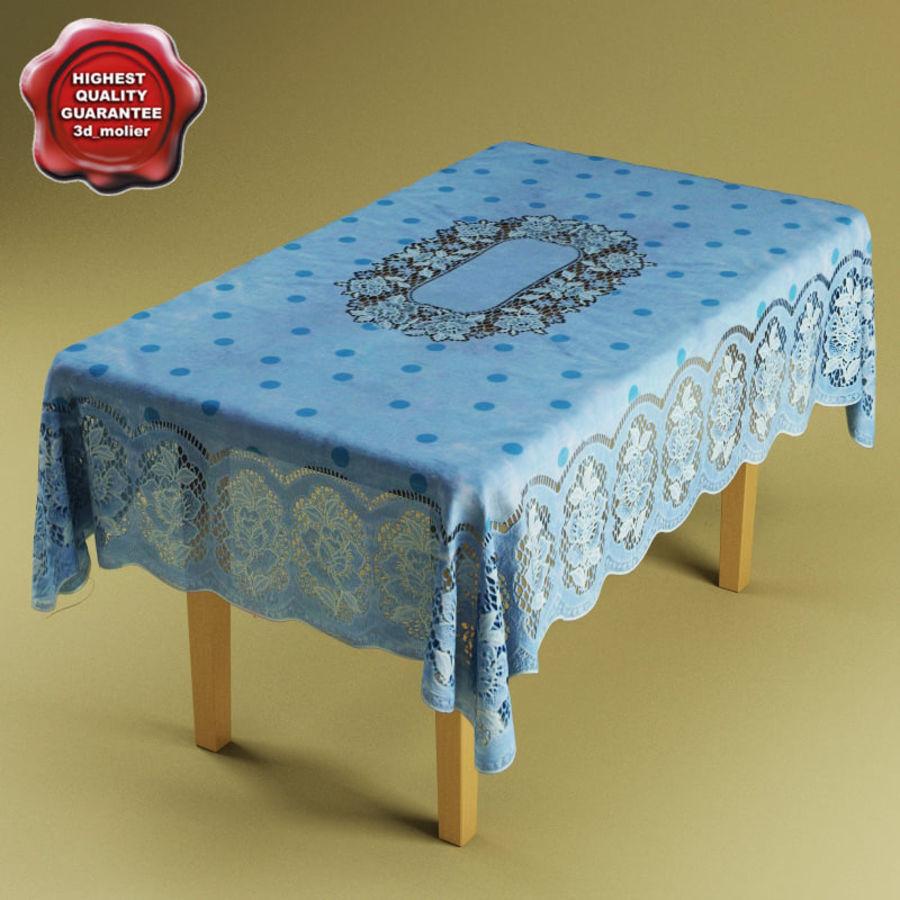 Masa ve masa örtüsü royalty-free 3d model - Preview no. 1