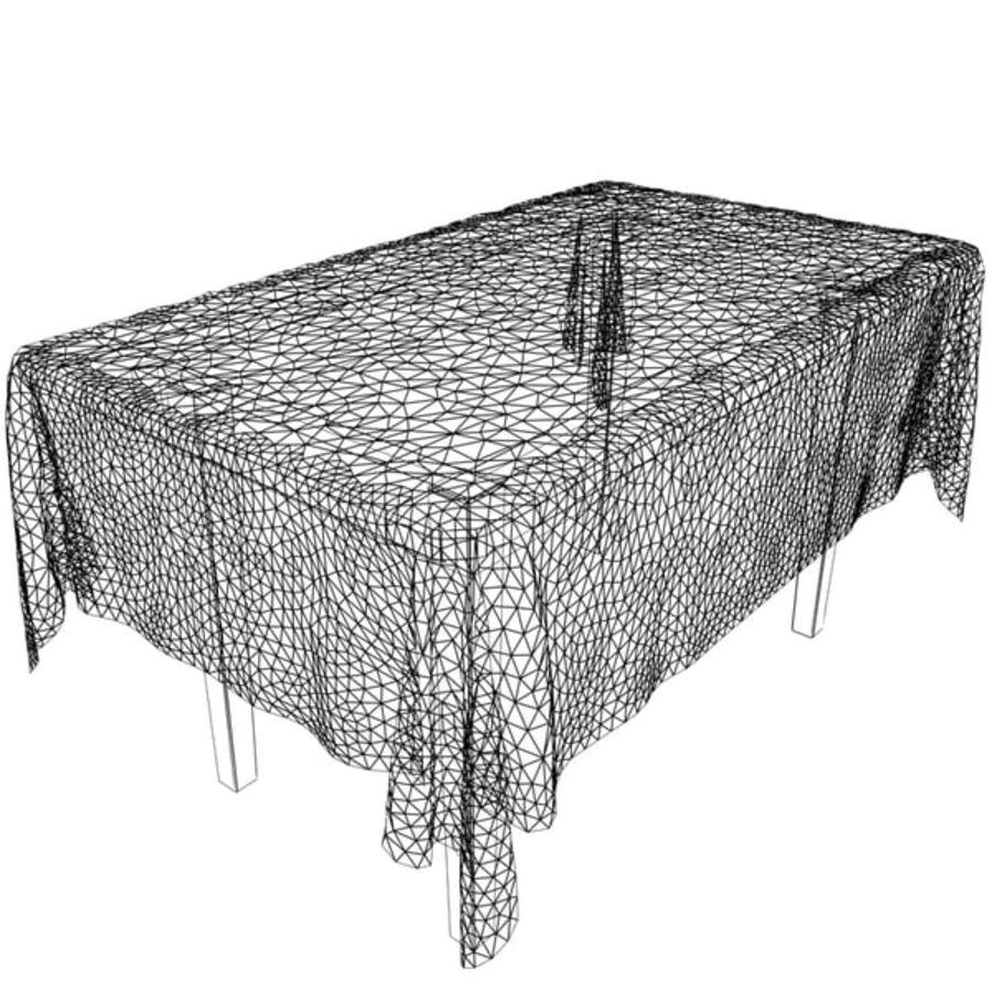 Masa ve masa örtüsü royalty-free 3d model - Preview no. 6