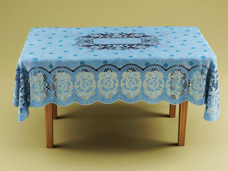 Masa ve masa örtüsü royalty-free 3d model - Preview no. 3