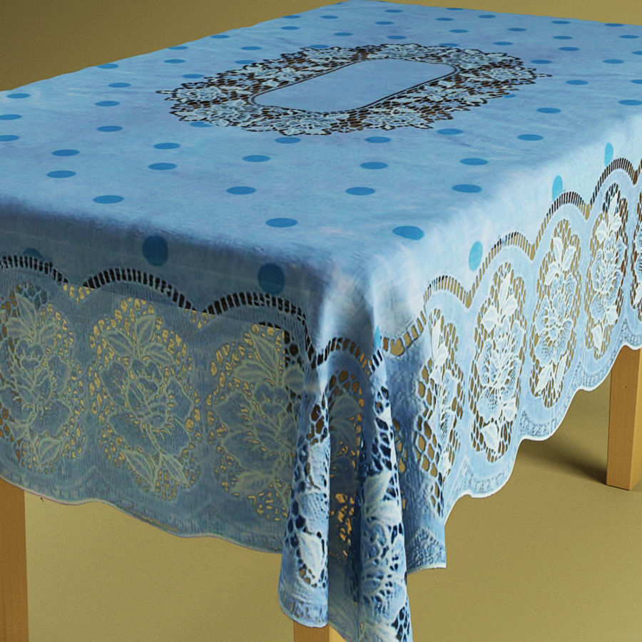 Masa ve masa örtüsü royalty-free 3d model - Preview no. 5