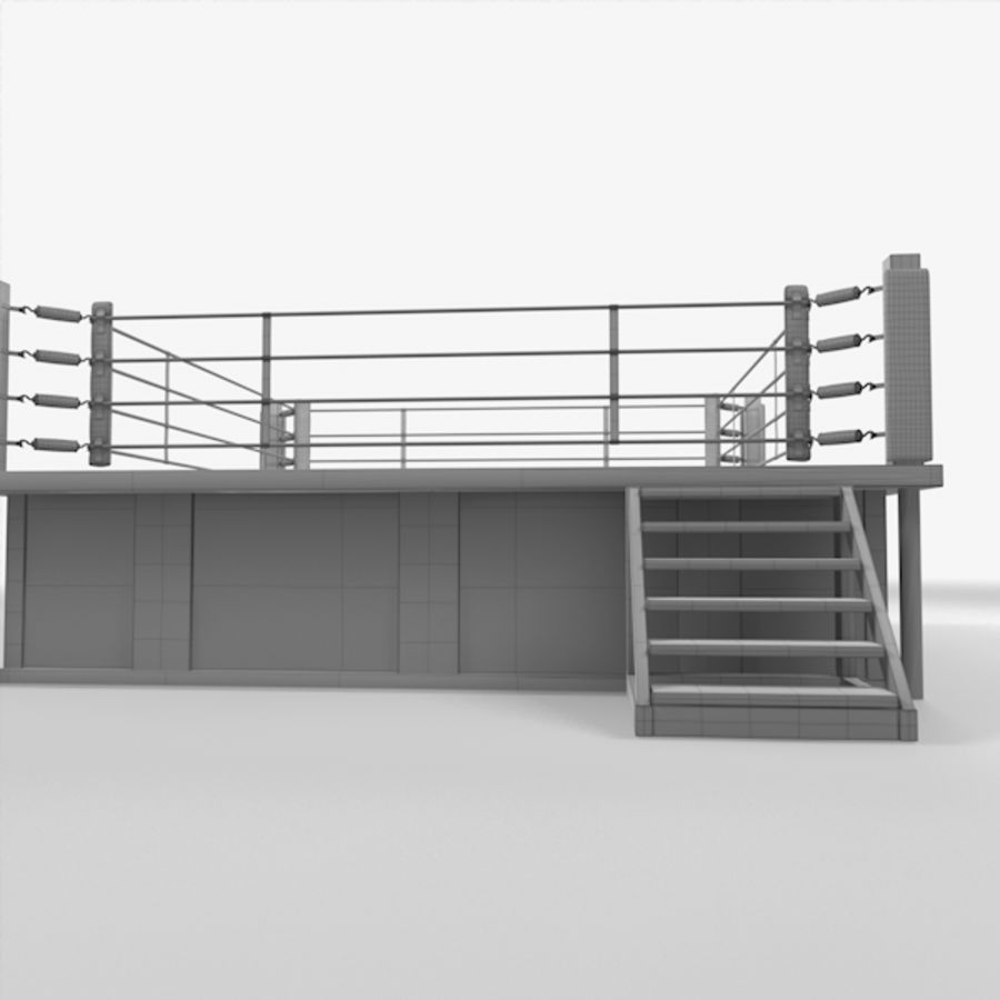 Box Arena royalty-free 3d model - Preview no. 11